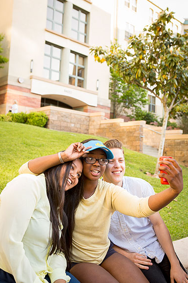 Students Outdoors taking a Selfie