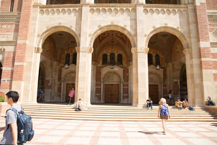 front steps of historic Royce Hall