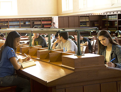 Students studying in one of ManBetX体育平台's research libraries